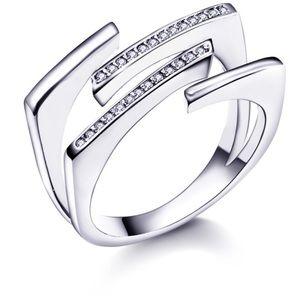 Modern Lariat Pave Ring